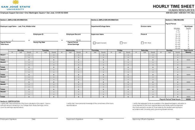 hourly employee timesheet template - 74 timesheet template free download