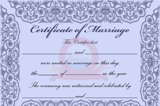 4  marriage certificate free download