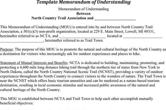 3  memorandum of understanding template free download