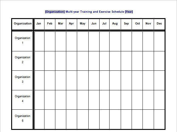 Download workout schedule template for free tidytemplates for Football practice schedule template