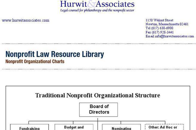 3 Non Profit Organizational Chart Free Download
