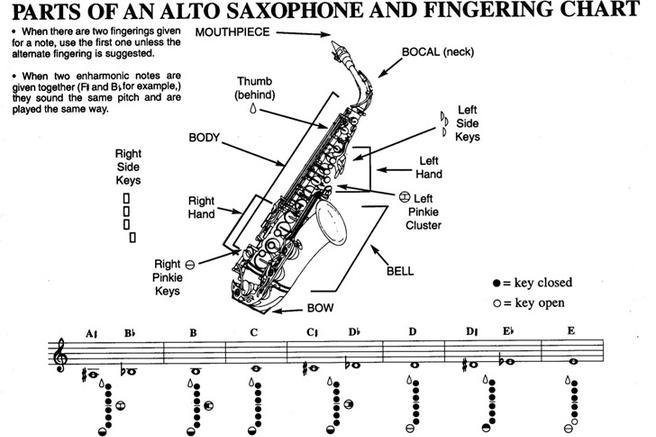 alto sax alternate finger chart pdf