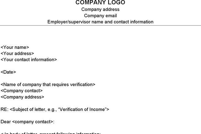 download proof of income letter template for free tidytemplates