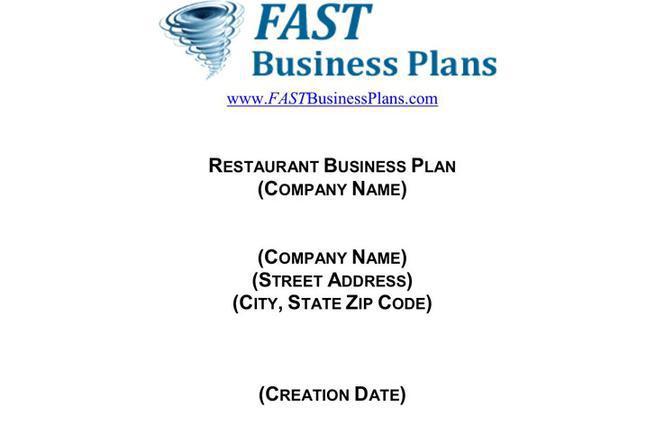 3 restaurant business plan template free download maxwellsz