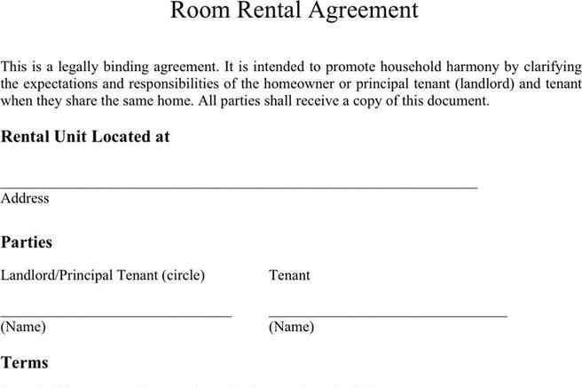 Download Room Rental Agreement For Free Tidytemplates