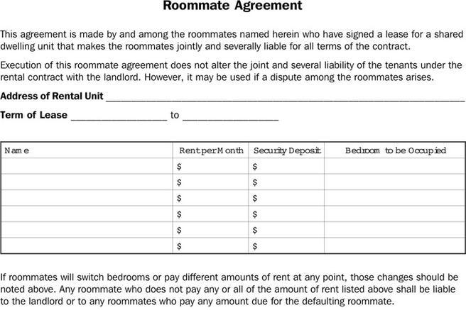 Download Roommate Agreement For Free Tidytemplates