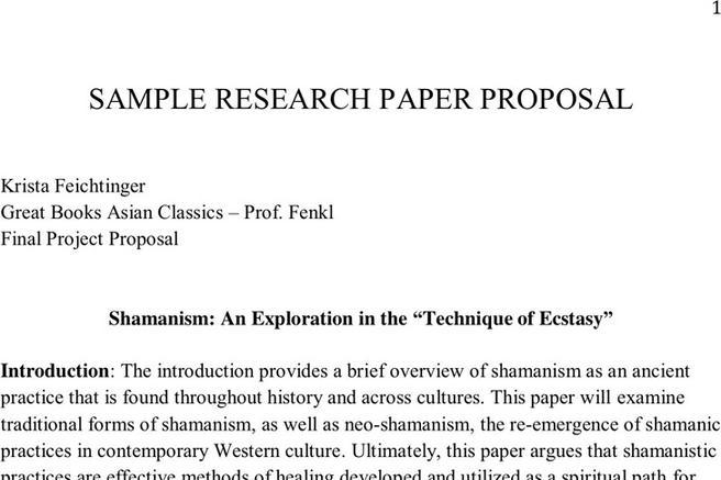 research paper proposal free download