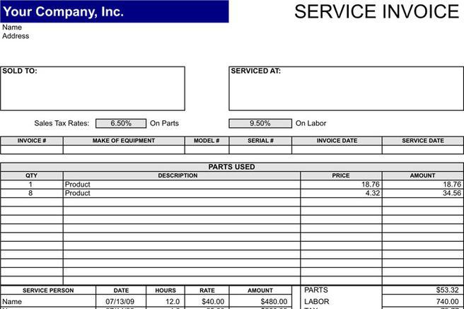 download invoice template for free tidytemplates