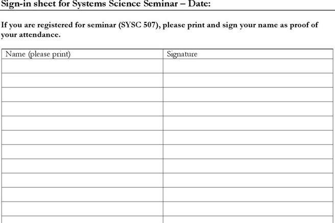3+ Seminar Sign in Sheet Free Download