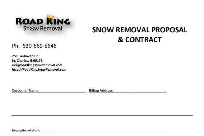 20  snow plowing contract templates free download