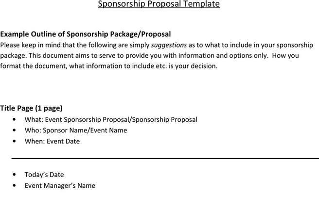13 Sponsorship Proposal Template Free Download