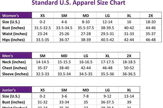33 size chart free download