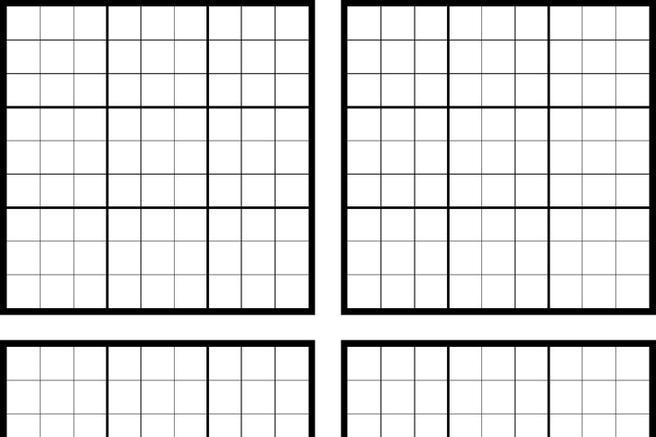 photograph regarding Blank Sudoku Grid Printable named Printable Blank Grid Template Offers of the Working day