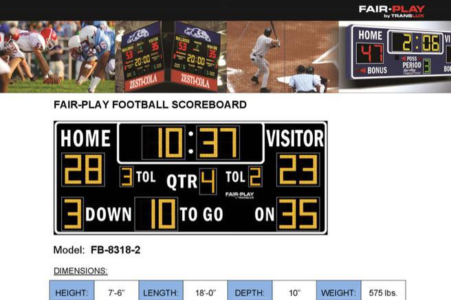 5 Football Scoreboard Template Free Download