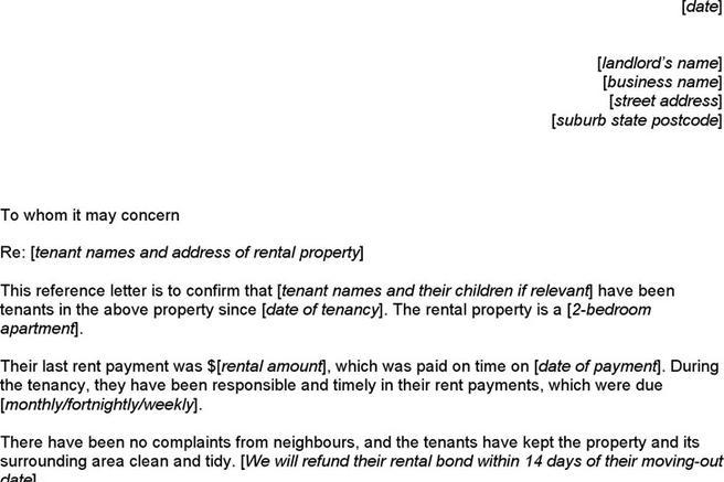 Landlord Reference Template | Download Landlord Reference Template For Free Tidytemplates