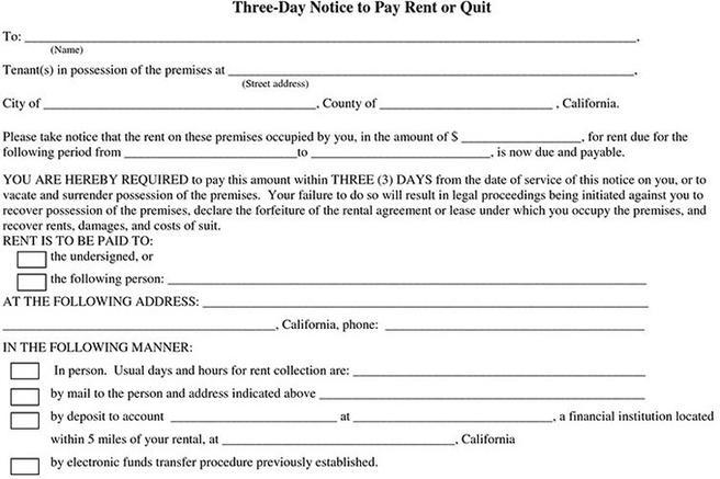 Download 3 day notice to pay or quit for free tidytemplates altavistaventures Image collections