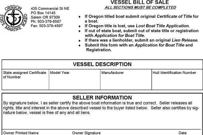 Download Boat Bill of Sale Form for Free - TidyTemplates