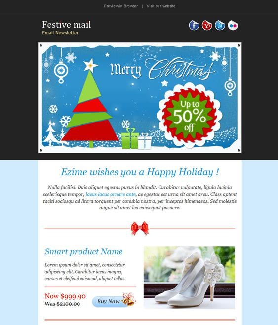 2 Christmas Multipurpose Newsletter Template Transparent Png Page 1
