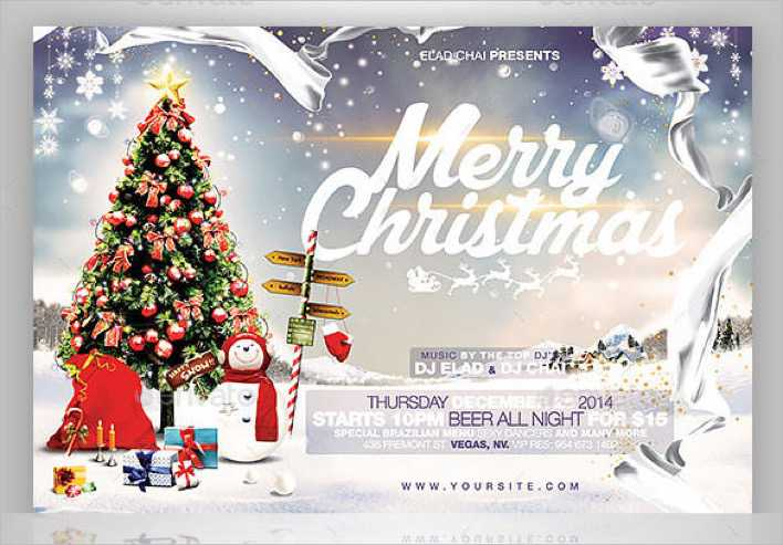 2015 Christmas Flyer Card Template Photoshop PSD Page 1