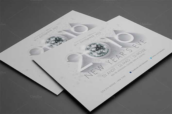 2016 New Years Flyer Template PNG Format Download Page 1
