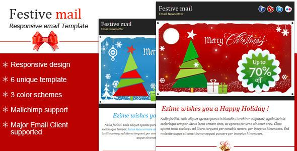 3 Exclusive Christmas And New Year Newsletter Psd Download Page 1