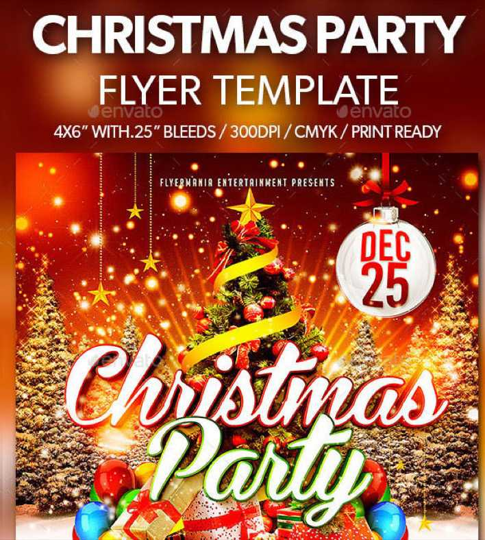 3D Christmas Party Flyer Template in PSD File Page 1