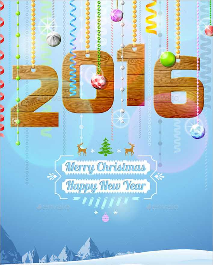 4 New Year Greetings Card Template EPS Page 1