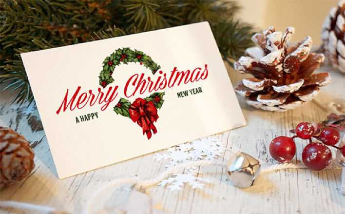 5 Christmas Greeting card Mockups PSD Format Page 1
