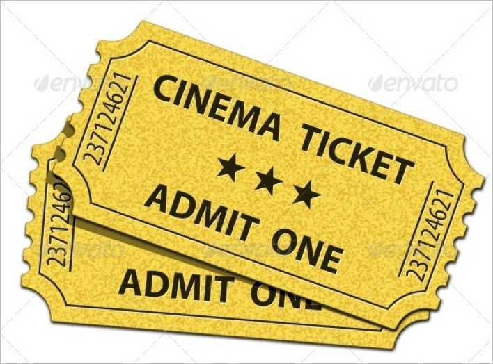 Admit One Cinema Ticket Template Page 1
