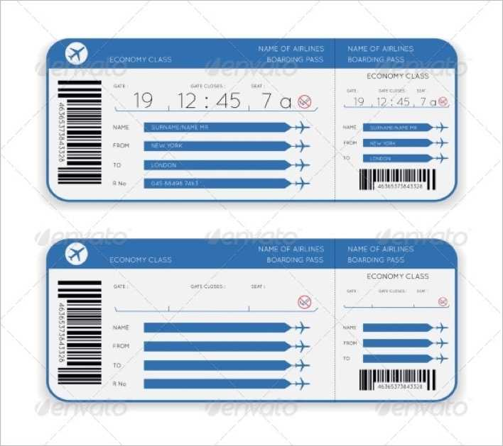 Airline Boarding Pass Ticket Template Page 1