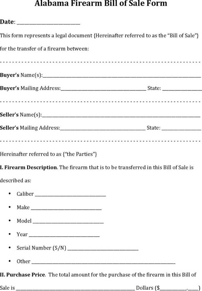 image regarding Printable Firearm Bill of Sale called gun invoice of sale -