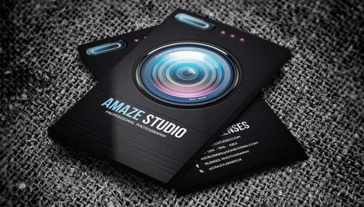 Amaze Studio Photographer Lens Business Card Page 1