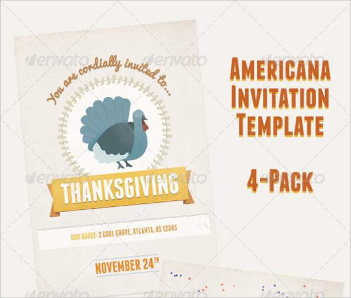 American Holiday Party Invitation Flyer - $9 Page 1
