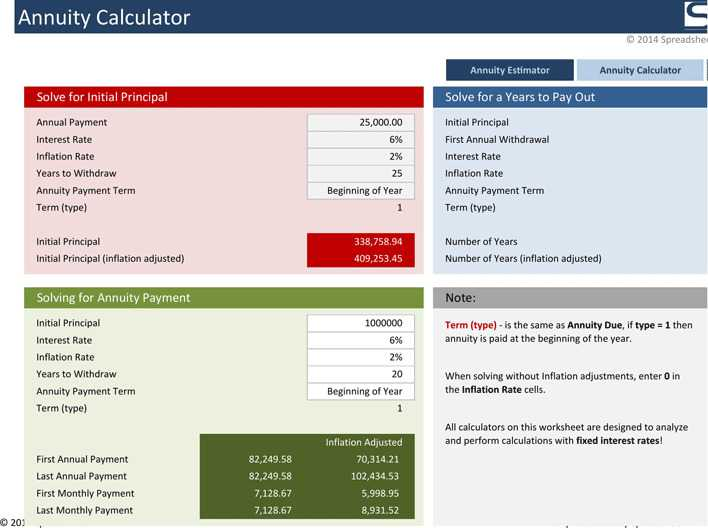download annuity calculator for free