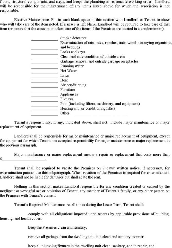 Download Apartment Lease Contract Template for Free | Page 4 ...