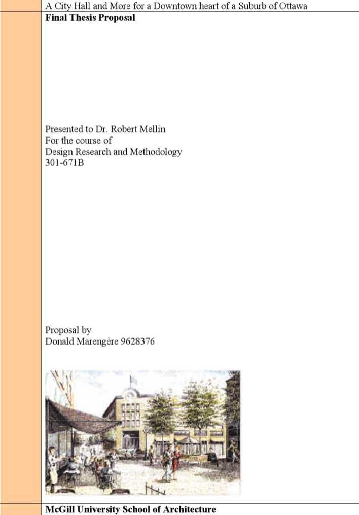 Download Architectural Thesis Proposal Template For Free
