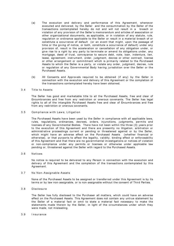 Download Asset Purchase Agreement 1 for Free | Page 6 ...