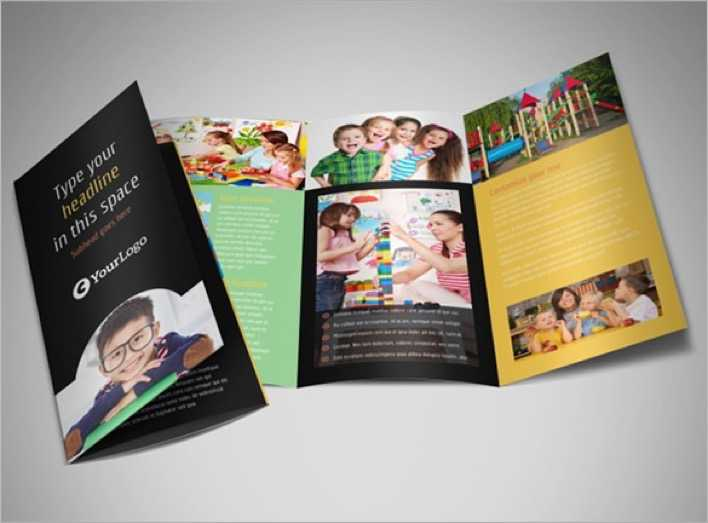 Awesome Brochure Template for Child Care Page 1
