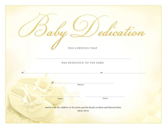Baby Dedication Certificate | Download Baby Dedication Certificate Pdf For Free Tidytemplates