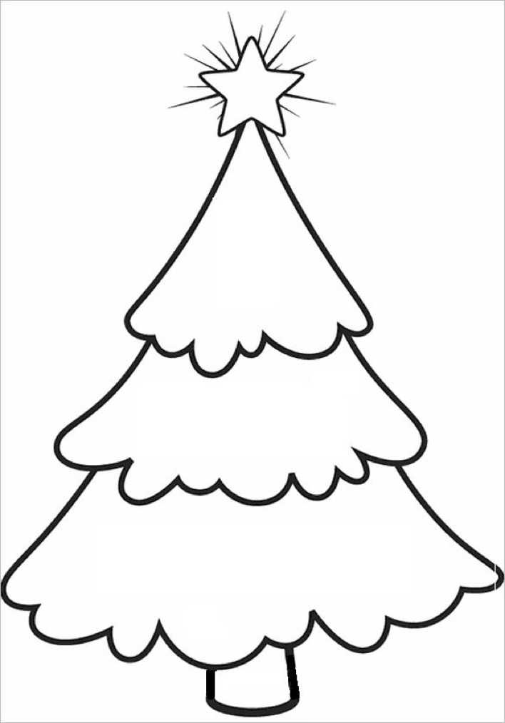 Bare Christmas Tree Template for School Page 1