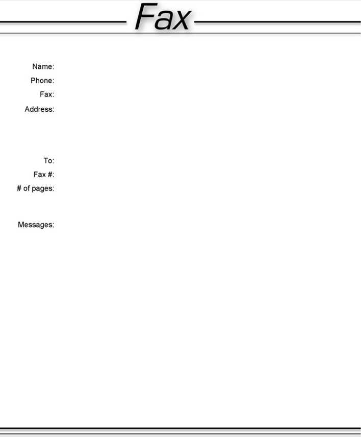 Simple Fax Cover Sheet | Download Basic Fax Cover Sheet 3 For Free Tidytemplates