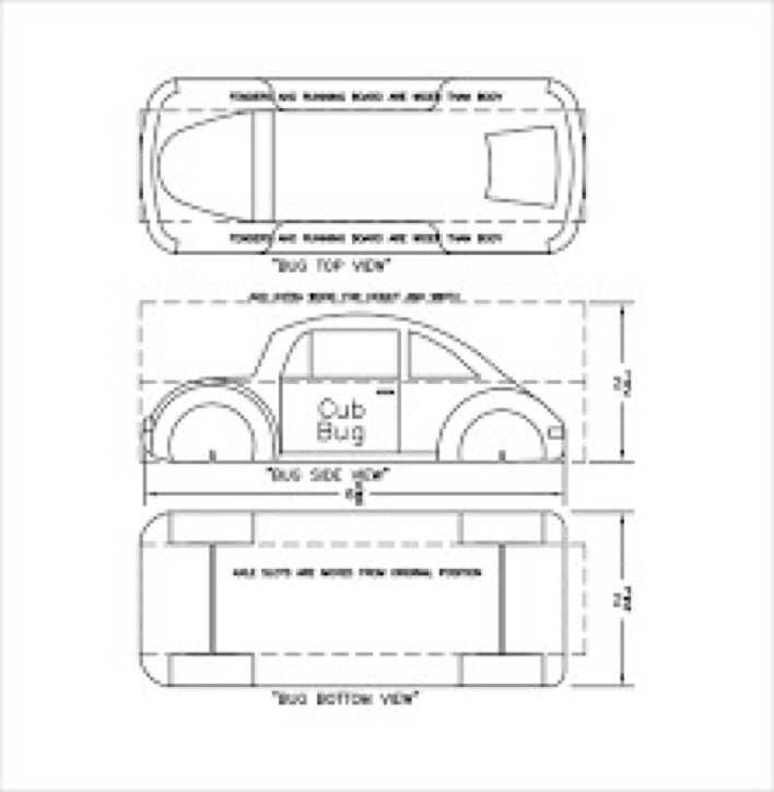 Basic Pinewood Derby Car Template Page 1