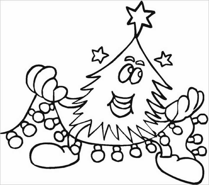 Beautiful Christmas Coloring Pages Download Page 1