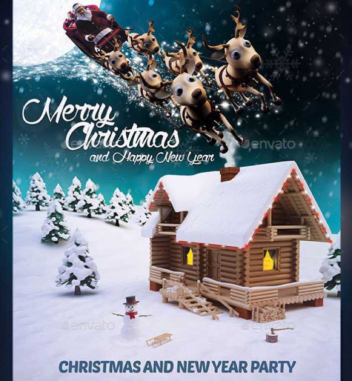 Beautiful Christmas Flyer Template Photoshop PSD Format Page 1