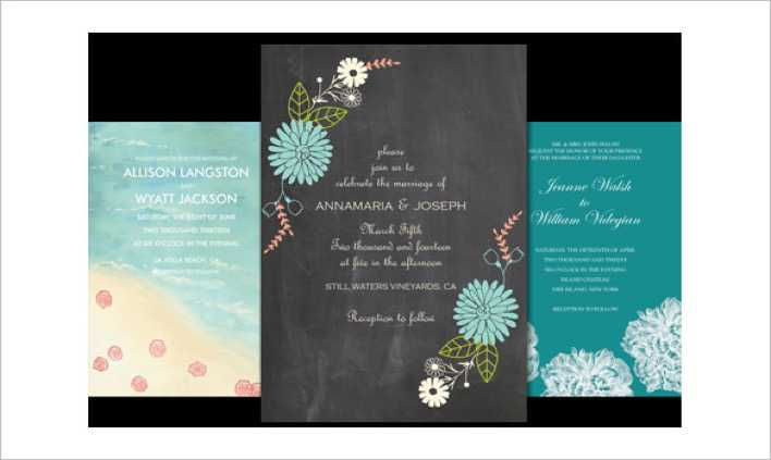 Beautiful Email Wedding Invitation Template Desgin Page 1