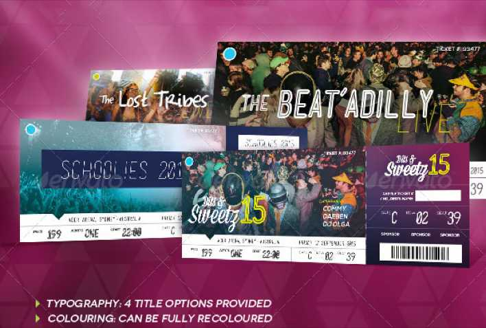 Beautifully Designed Party Ticket Template Page 1