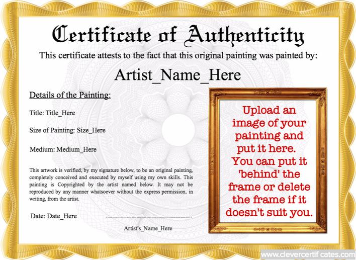 Download Best Student Certificate Of Authenticity Template For Free