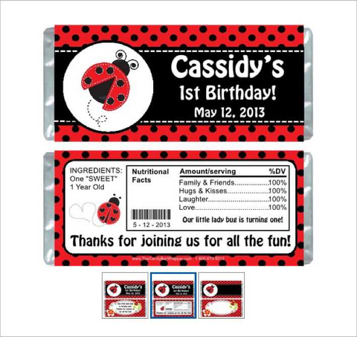 Birthday Candy Bar Wrapper Template Publisher Page 1
