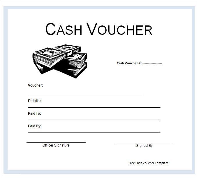 Blank Cash Voucher Template Page 1