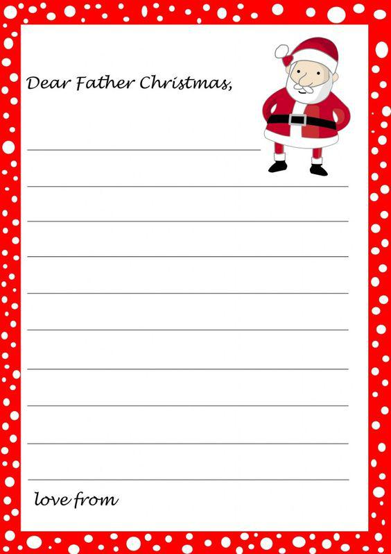 Blank Christmas Letter Template Download Page 1
